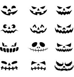 Devil face icons black color vector