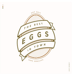 egg farm linear logo vector image