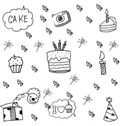 Element party doodle cute vector image