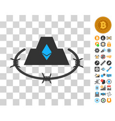 Ethereum barbwire citadel icon with bonus vector