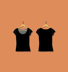female tshirt mockup white for your design vector image