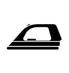 Flat black ironing icon vector