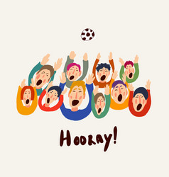 football fans cute colorful vector image