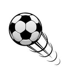 Football speeding through air vector