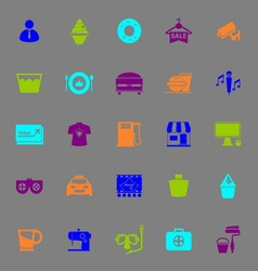 Franchisee business color icons on gray background vector image