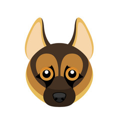German shepherd dog avatar vector