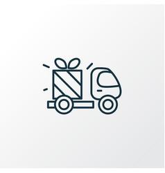 gift delivery icon line symbol premium quality vector image