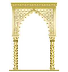 Golden east arch vector