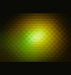 green brown yellow black rows of triangles vector image