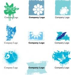 Grunge logos vector