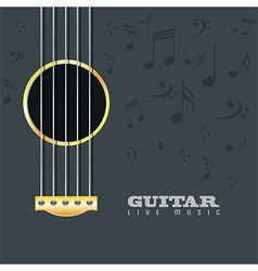Guitar live music poster background vector