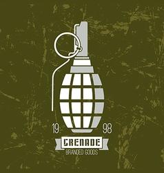 Hand grenade icon vector image