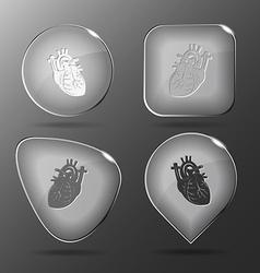Heart Glass buttons vector