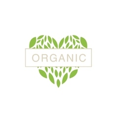 Heart With Text In Middle Organic Product Logo vector
