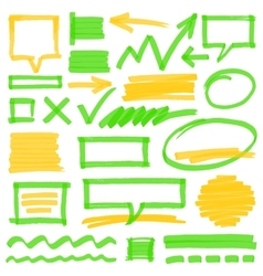 Highlighter marking design elements vector