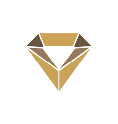 jewelry crystal diamond logo vector image