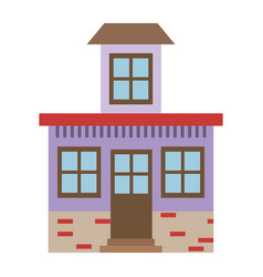 Light color silhouette of house with small attic vector