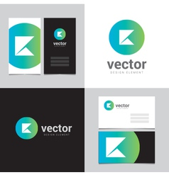 Logo design element with two business cards - 11 vector image