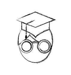 Man with graduation cap icon vector