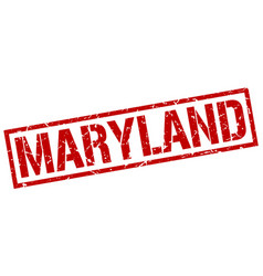 Maryland red square stamp vector