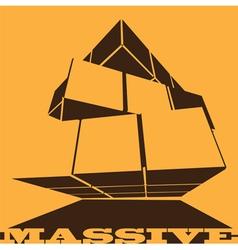 massive cube vector image