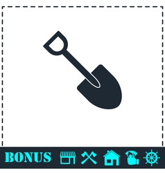Mini Shovel icon flat vector
