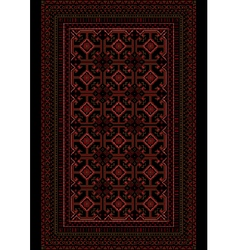 Motley carpet with a burgundy pattern vector