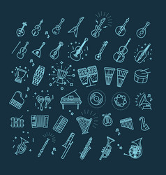 outline flat icons vector image