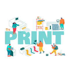 Print and polygraphy industry concept printing vector