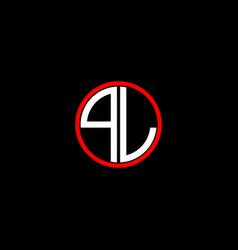 Q l letter logo creative design on black color vector