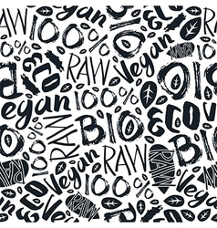 Raw vegan seamless pattern vector