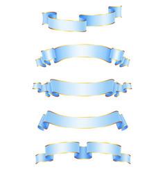 realistic ribbons vector image