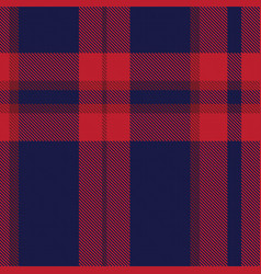 Red navy ombre plaid textured seamless pattern vector