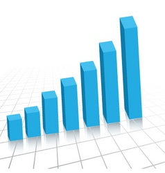 rising graph vector image