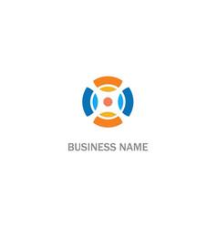round circle colored company logo vector image