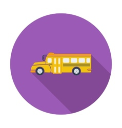 School bus flat icon vector image vector image