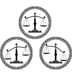 set of scales stencils vector image