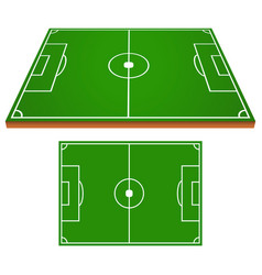 soccer field set vector image