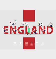 soccer players in action on england text vector image