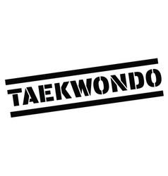 Taekwondo rubber stamp vector