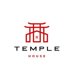 Temple house logo icon vector