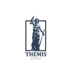 The goddess of justice themis vector