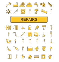 The icons on the theme of repair vector