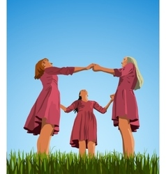 Three woman vector