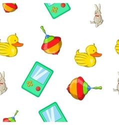Toys kid pattern cartoon style vector image vector image