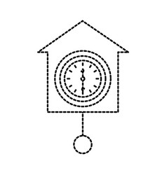 Wall clock icon object time concept vector