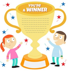 you are a winner vector image