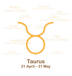 Zodiac sign taurus on white vector
