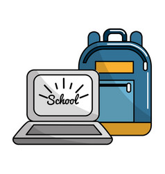 bag and school tools icon vector image vector image
