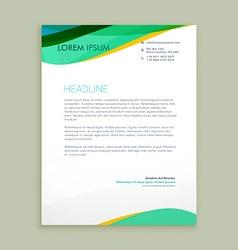 Beautiful letterhead presentation vector